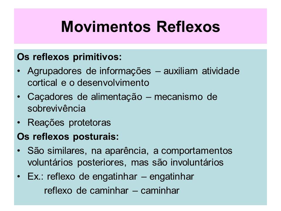Movimentos Reflexos Os reflexos primitivos: