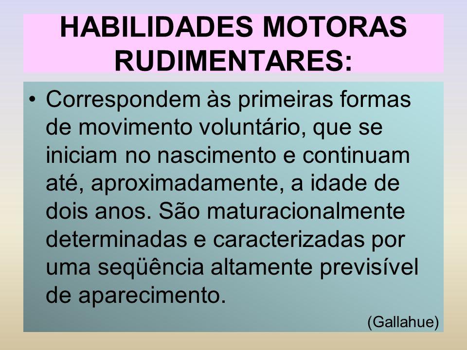HABILIDADES MOTORAS RUDIMENTARES: