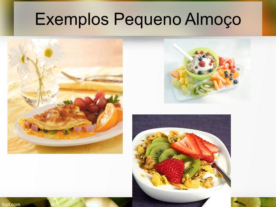 Exemplos Pequeno Almoço
