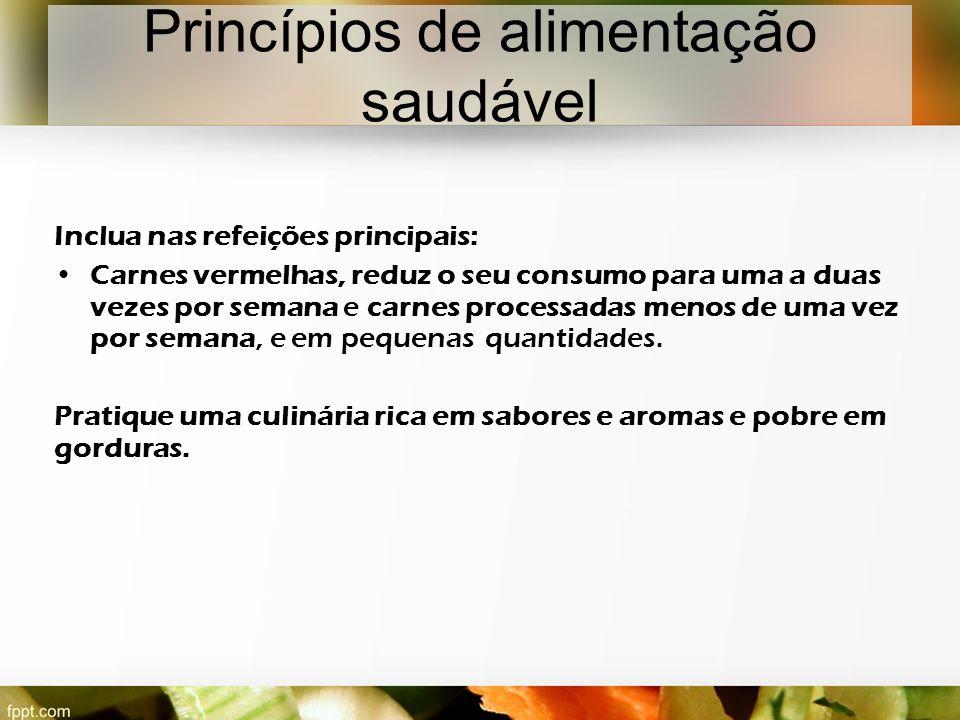 Princípios de alimentação saudável