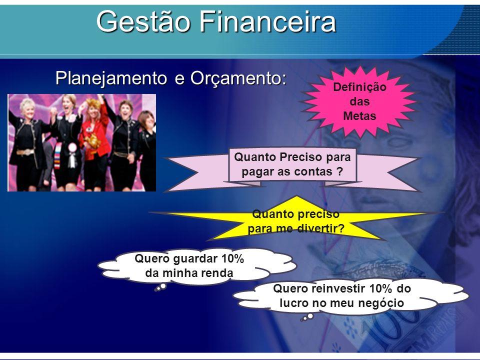 Gestão Financeira Planejamento e Orçamento: Definição das Metas