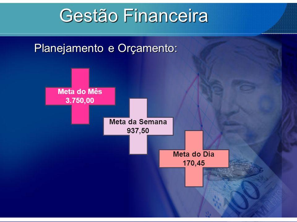 Gestão Financeira Planejamento e Orçamento: Meta do Mês 3.750,00