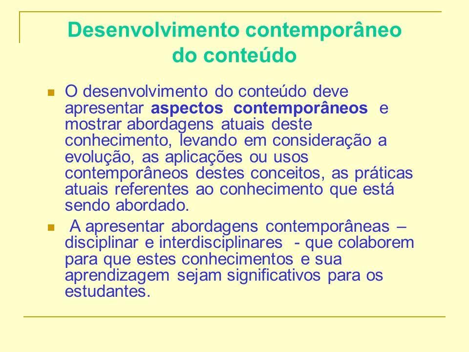 Desenvolvimento contemporâneo do conteúdo