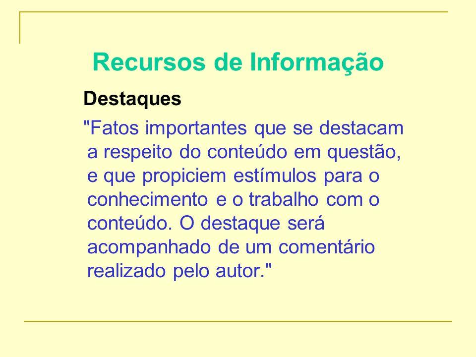 Recursos de Informação