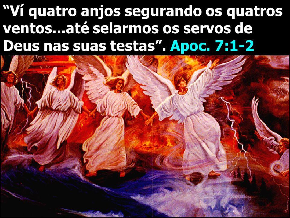 Ví quatro anjos segurando os quatros ventos