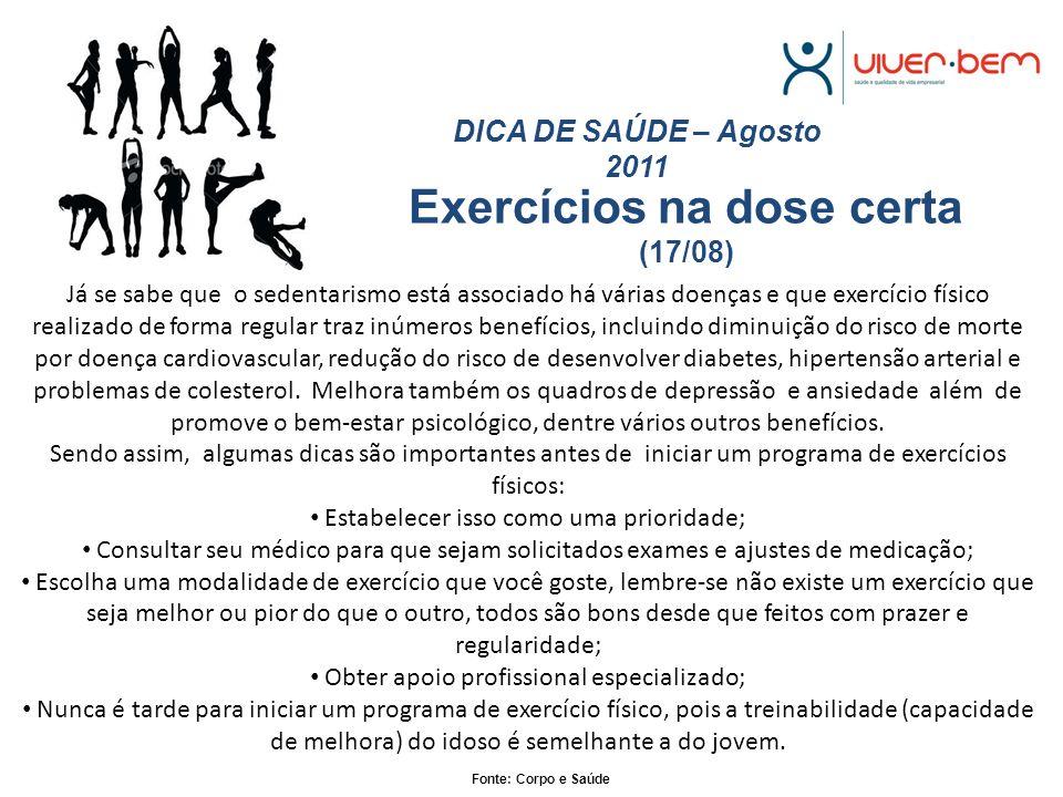 Exercícios na dose certa (17/08)