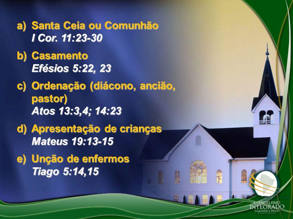 Santa Ceia ou Comunhão I Cor. 11:23-30