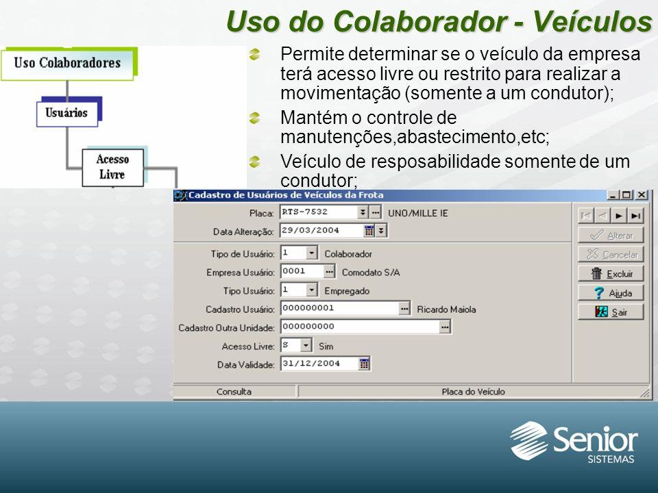 Uso do Colaborador - Veículos