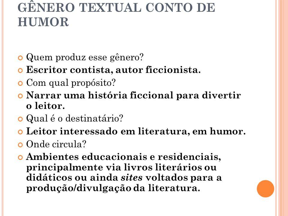 GÊNERO TEXTUAL CONTO DE HUMOR