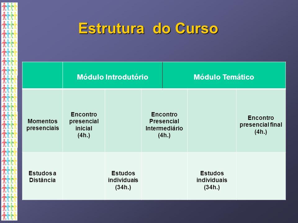 Estrutura do Curso Módulo Introdutório Módulo Temático