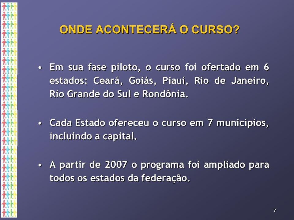 ONDE ACONTECERÁ O CURSO