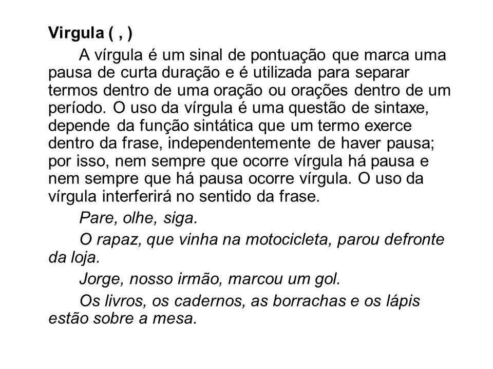 Virgula ( , )