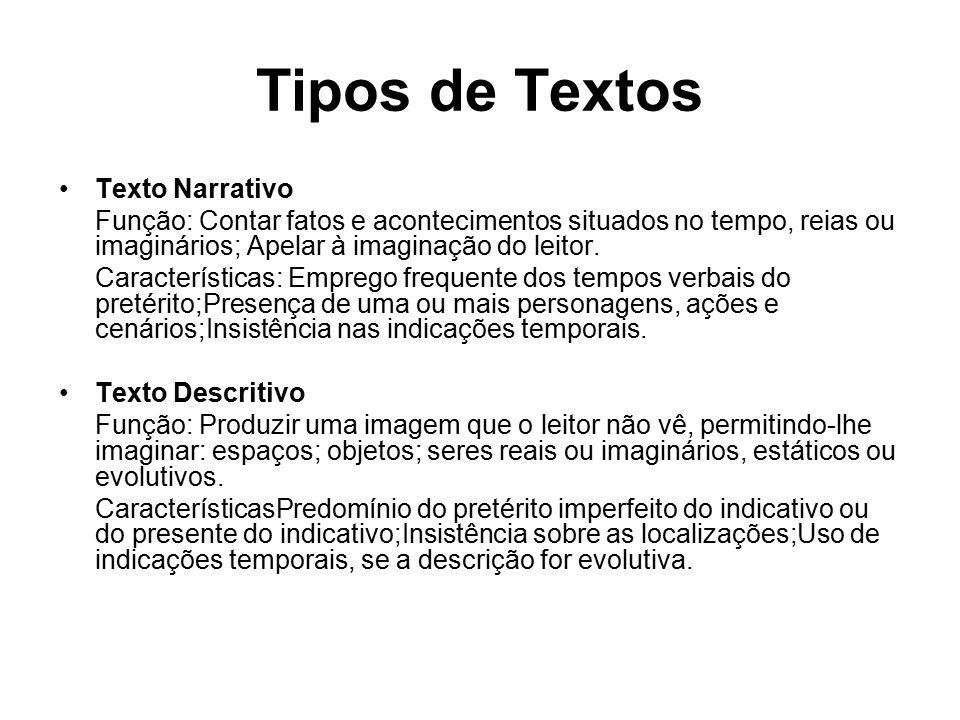 Tipos de Textos Texto Narrativo