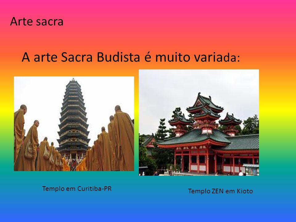 A arte Sacra Budista é muito variada: