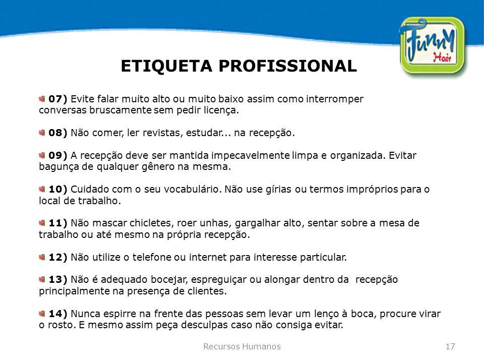 ETIQUETA PROFISSIONAL