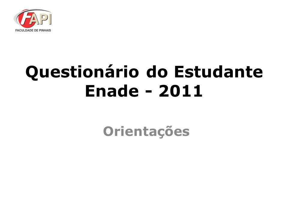 Questionário do Estudante Enade - 2011
