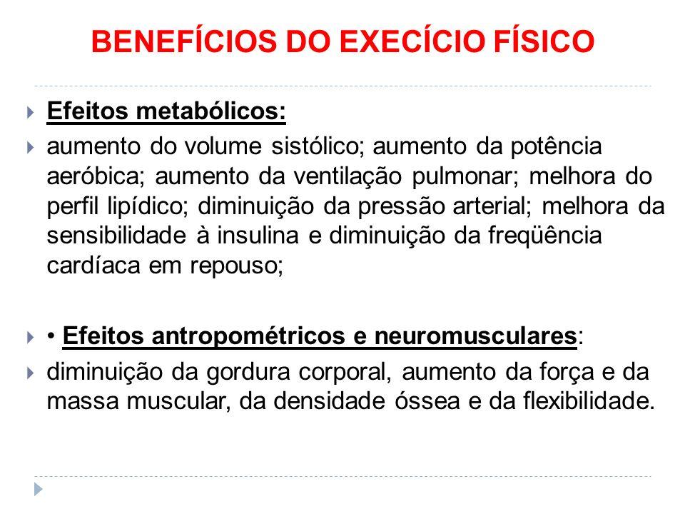 BENEFÍCIOS DO EXECÍCIO FÍSICO