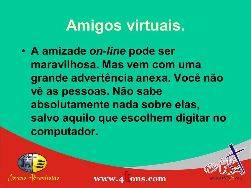 Amigos virtuais. Estiloja.com