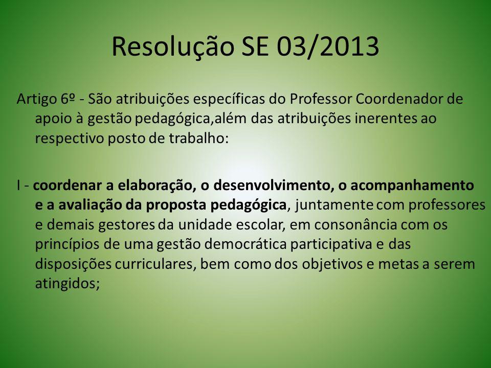 Resolução SE 03/2013
