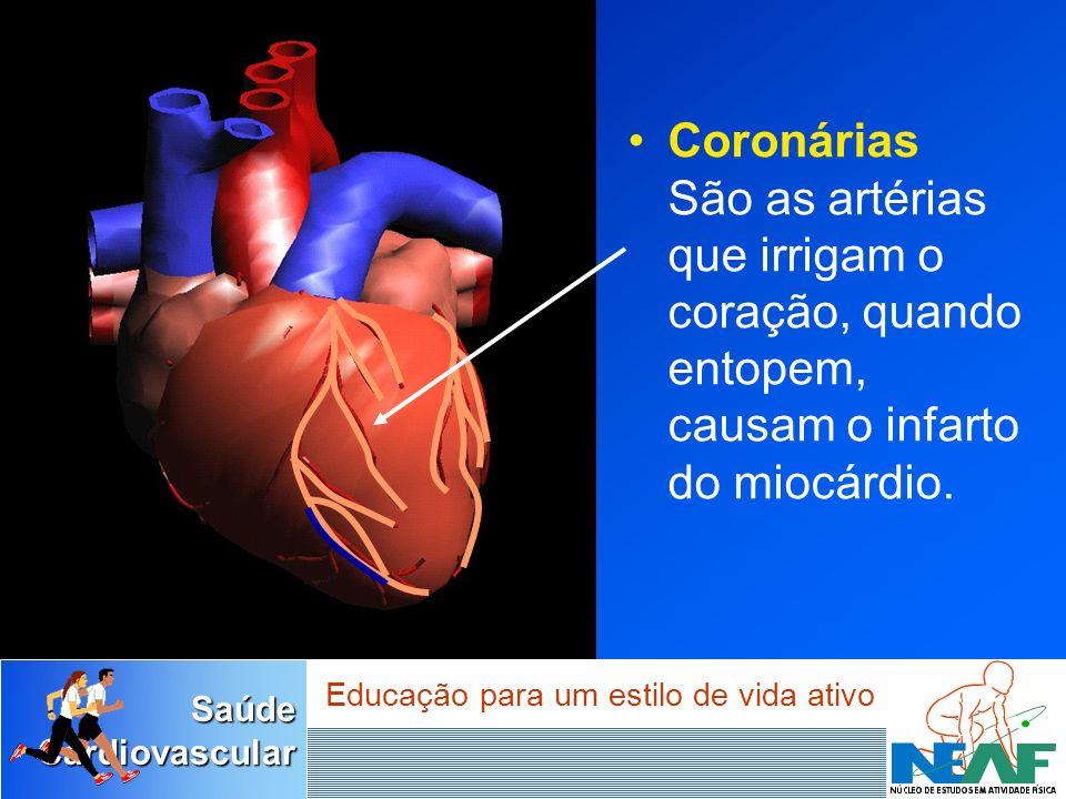 Coronárias São as artérias que irrigam o coração, quando entopem, causam o infarto do miocárdio.