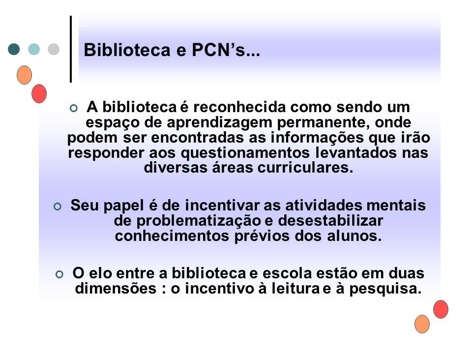 Biblioteca e PCN's...