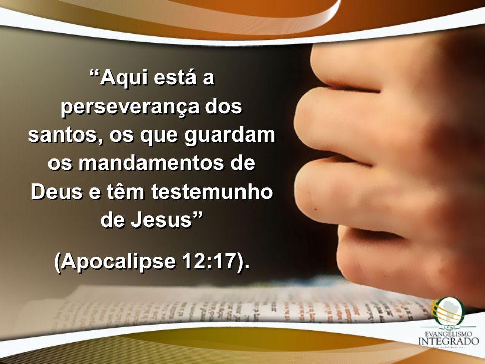 Aqui está a perseverança dos santos, os que guardam os mandamentos de Deus e têm testemunho de Jesus