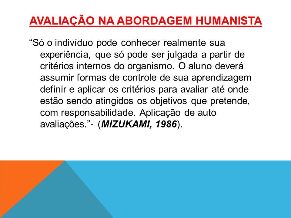 AVALIAÇÃO NA Abordagem humanista