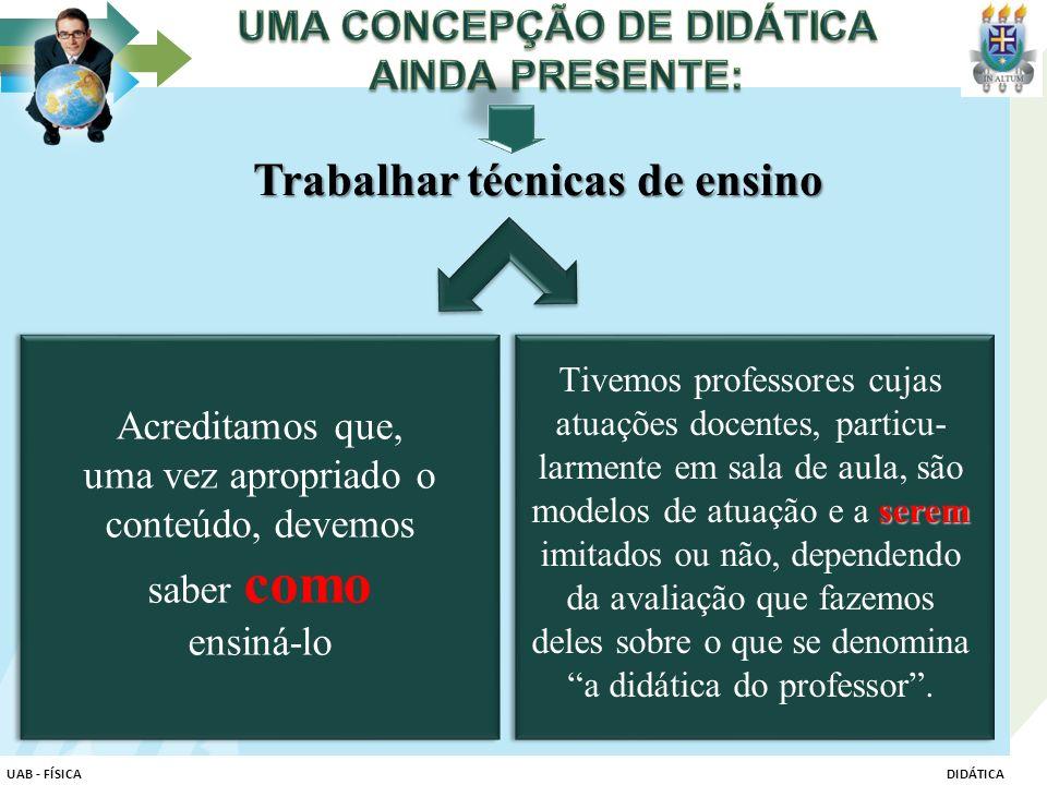 UMA CONCEPÇÃO DE DIDÁTICA AINDA PRESENTE:
