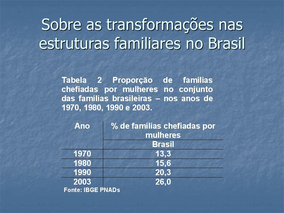 Sobre as transformações nas estruturas familiares no Brasil