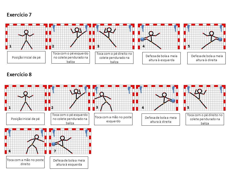 Exercício 7 Exercício 8 1 2 3 4 5 1 3 2 4 5 6 7 Posição Inicial de pé