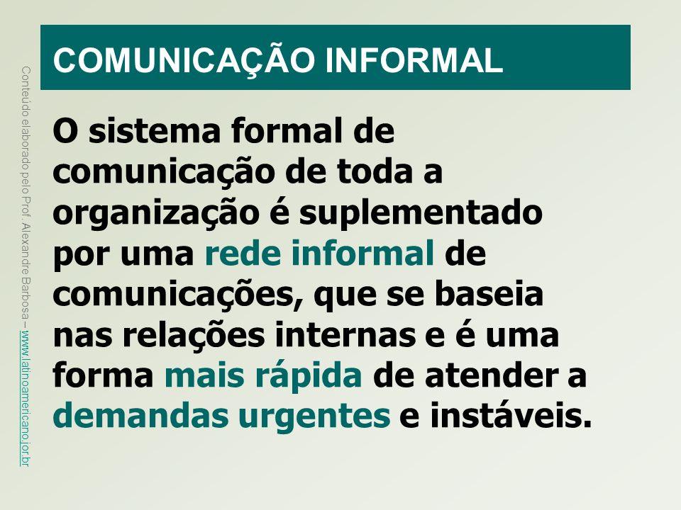 COMUNICAÇÃO INFORMAL