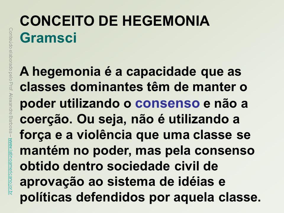 CONCEITO DE HEGEMONIA Gramsci