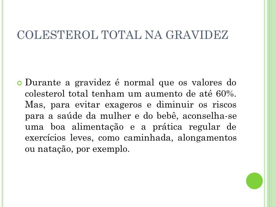COLESTEROL TOTAL NA GRAVIDEZ
