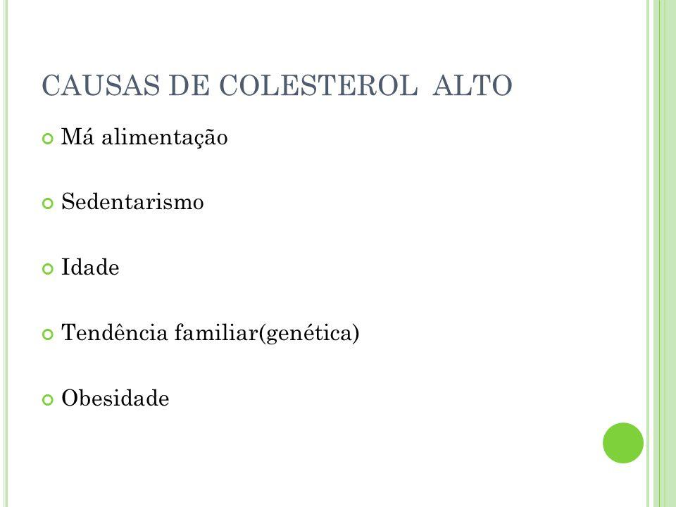CAUSAS DE COLESTEROL ALTO