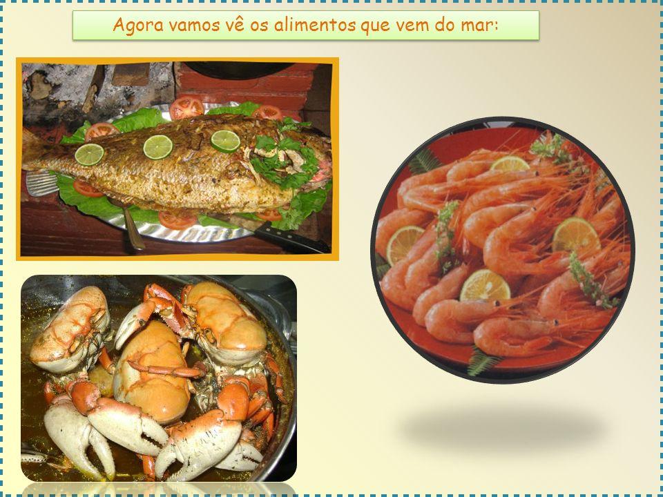 Agora vamos vê os alimentos que vem do mar: