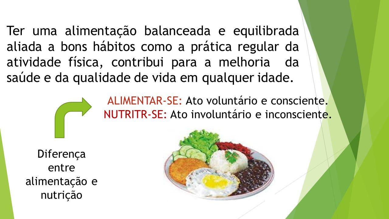 Ter uma alimentação balanceada e equilibrada aliada a bons hábitos como a prática regular da atividade física, contribui para a melhoria da saúde e da qualidade de vida em qualquer idade.