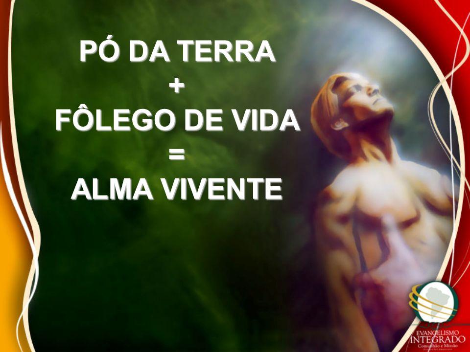 PÓ DA TERRA + FÔLEGO DE VIDA = ALMA VIVENTE