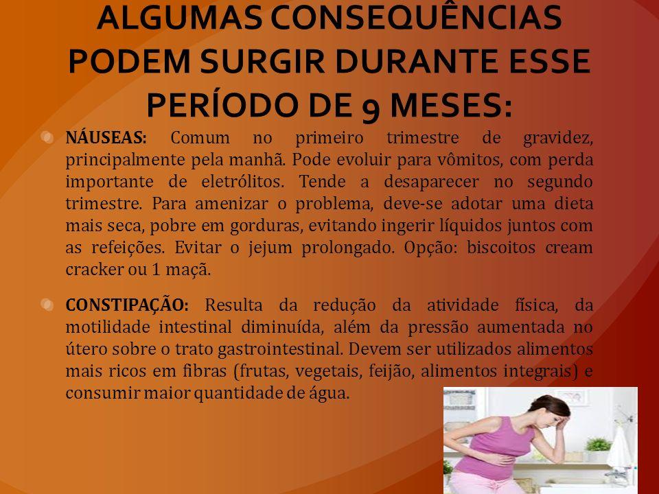 ALGUMAS CONSEQUÊNCIAS PODEM SURGIR DURANTE ESSE PERÍODO DE 9 MESES: