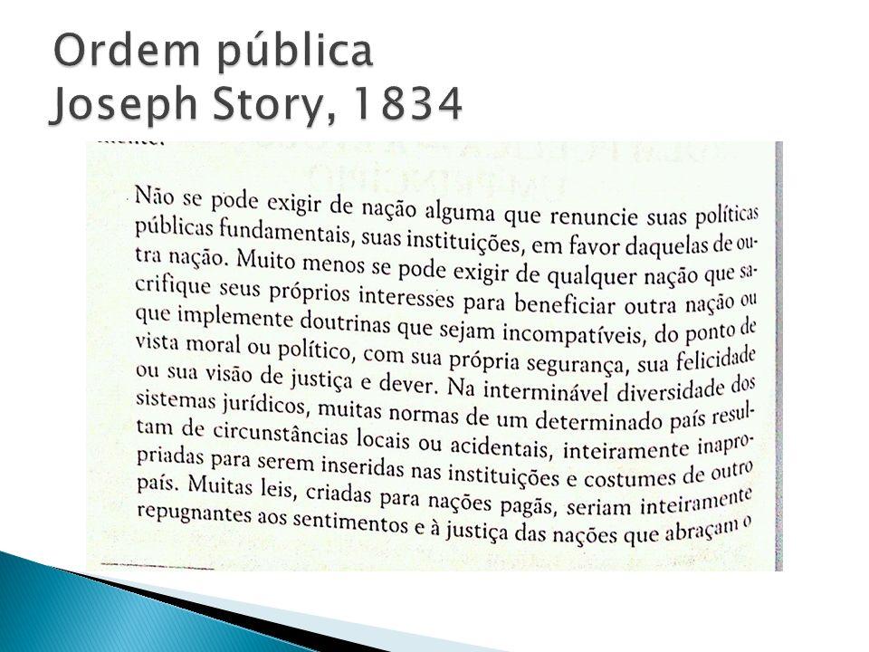 Ordem pública Joseph Story, 1834