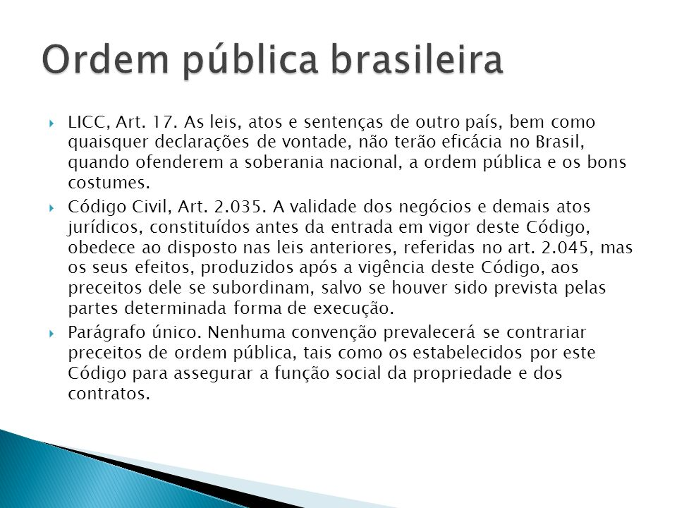 Ordem pública brasileira