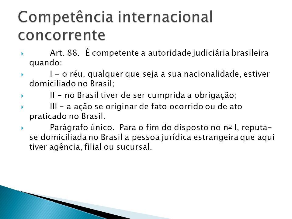 Competência internacional concorrente
