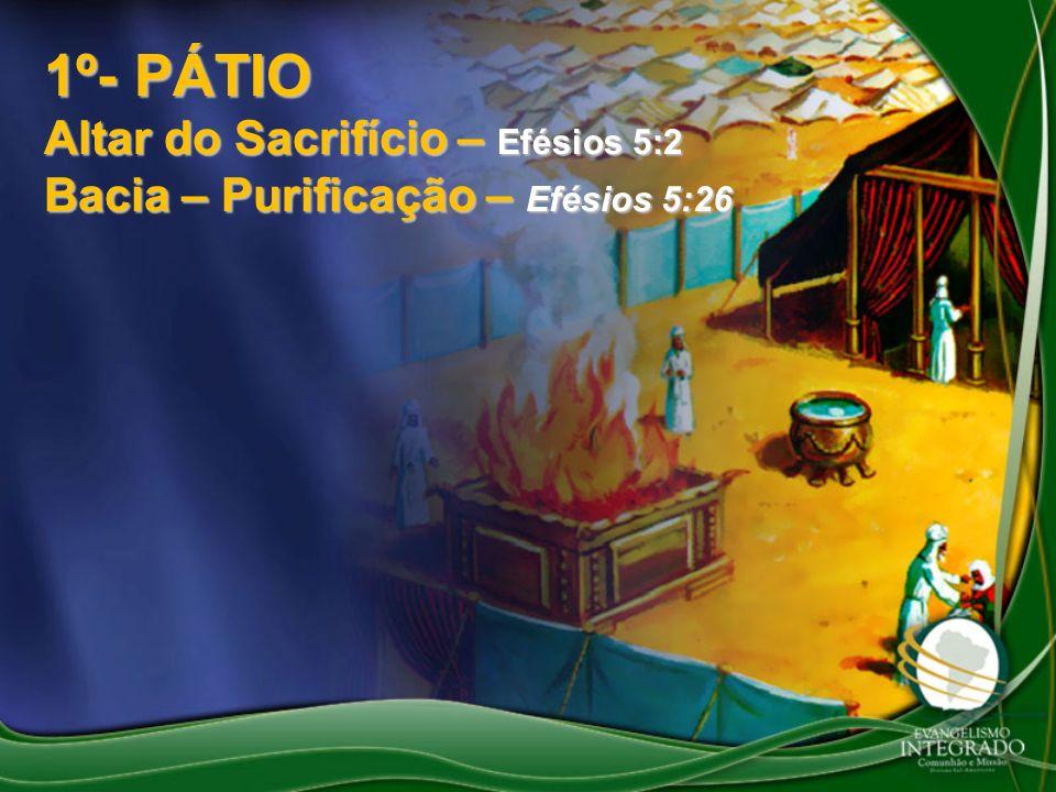 1º- PÁTIO Altar do Sacrifício – Efésios 5:2
