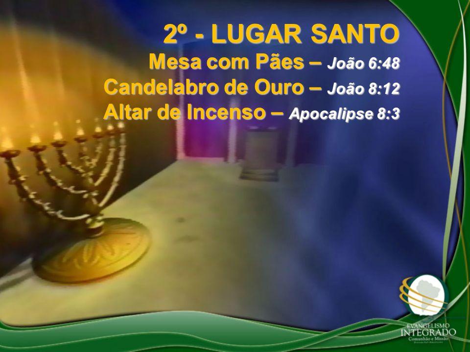 2º - LUGAR SANTO Mesa com Pães – João 6:48