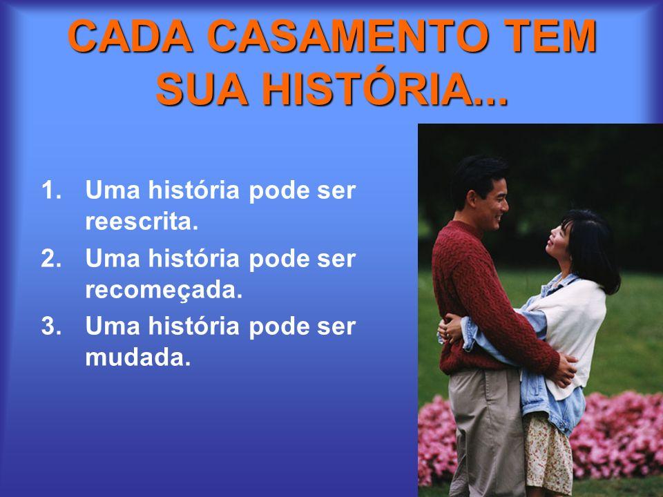 CADA CASAMENTO TEM SUA HISTÓRIA...
