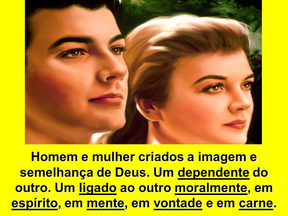 Homem e mulher criados a imagem e semelhança de Deus