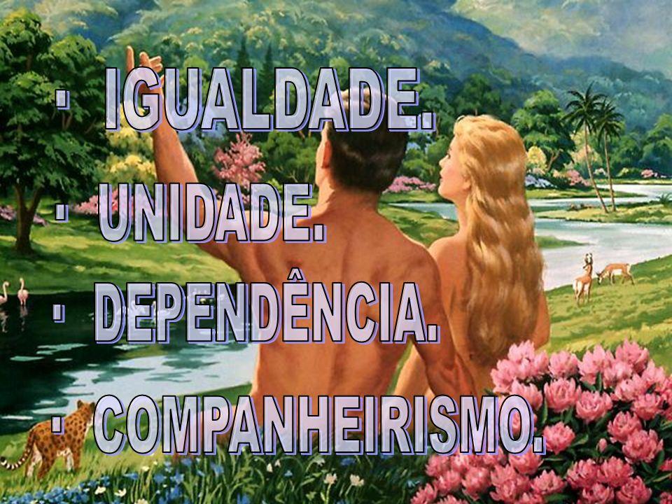· IGUALDADE. · UNIDADE. · DEPENDÊNCIA. · COMPANHEIRISMO.
