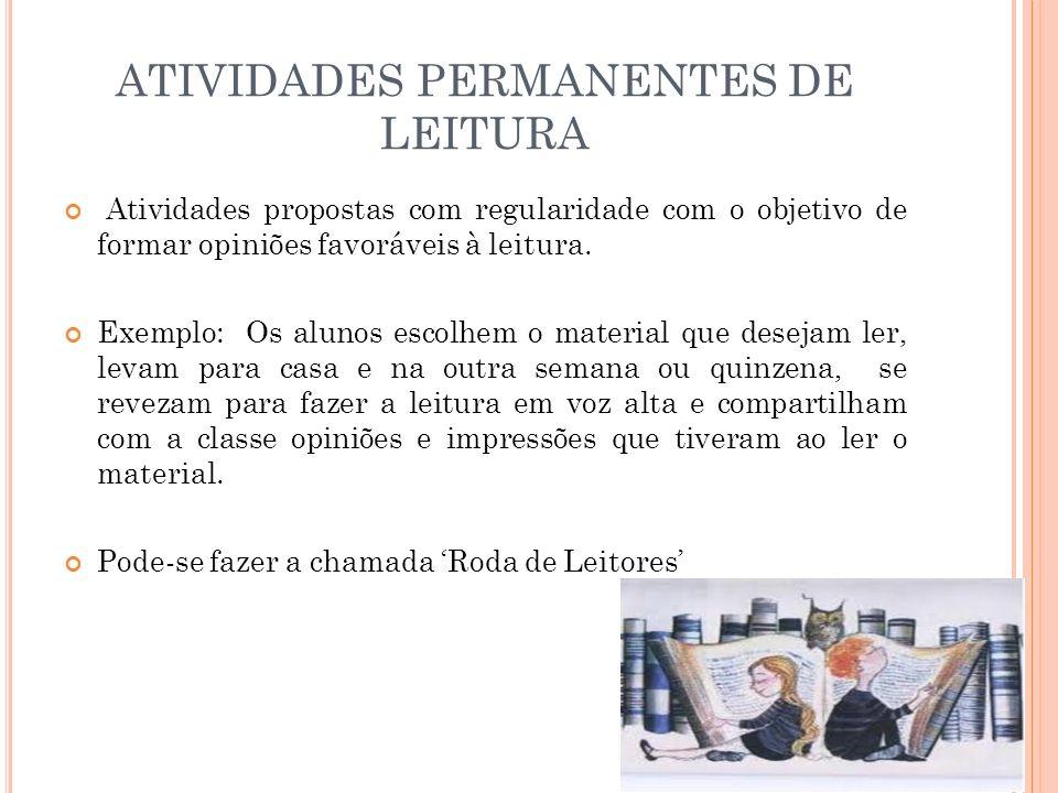 ATIVIDADES PERMANENTES DE LEITURA