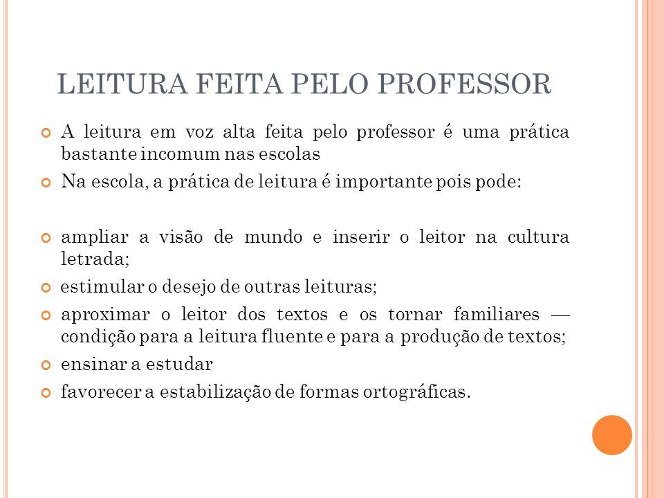 LEITURA FEITA PELO PROFESSOR
