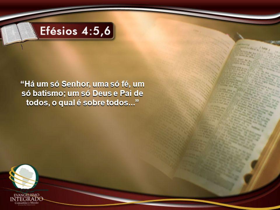 Há um só Senhor, uma só fé, um só batismo; um só Deus e Pai de todos, o qual é sobre todos...