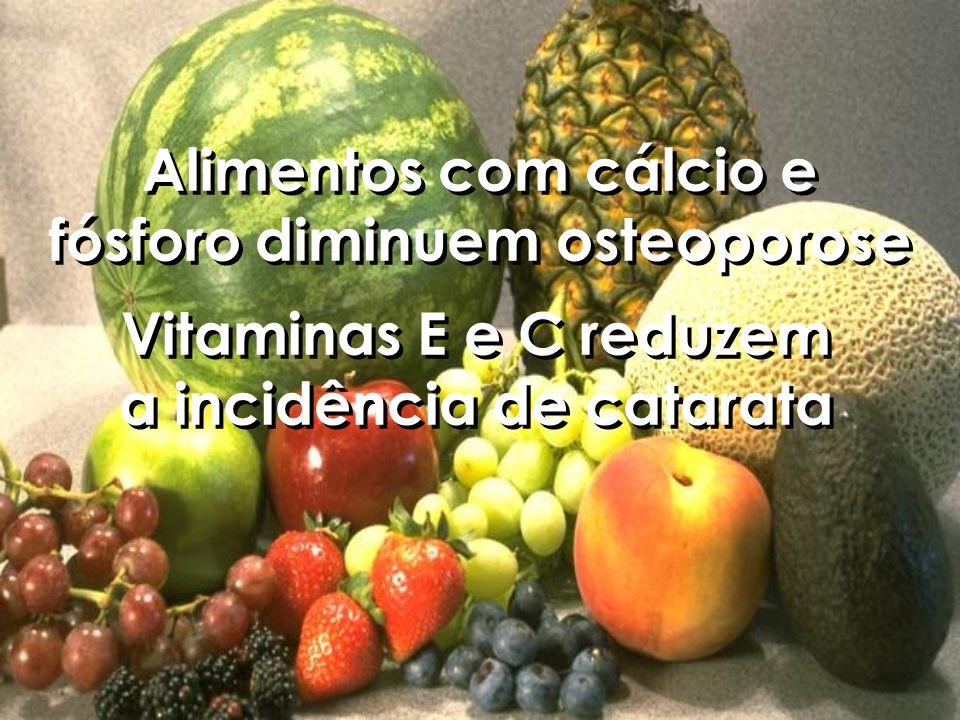 Alimentos com cálcio e fósforo diminuem osteoporose